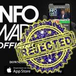 Infowars app rejected