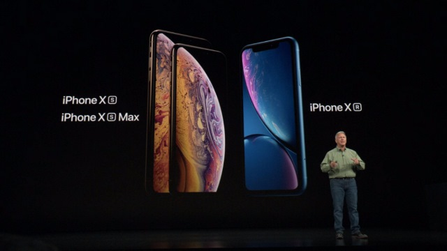 iPhone Xr, iPhone Xs and iPhone Xs Max