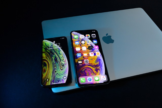 iPhones on a MacBook
