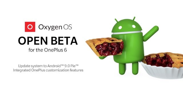 OnePlus 6 Android Pie Open Beta