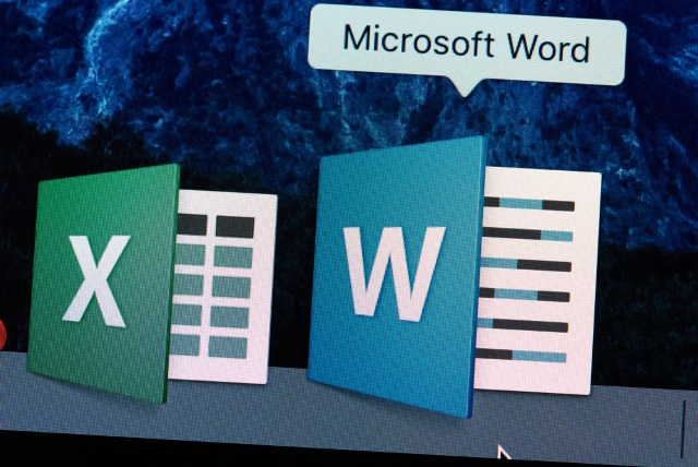 Word and Excel icons