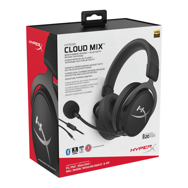 Hyperx Cloud Mix Bluetooth Stereo Gaming Headset Is Both Wired And Wireless Betanews