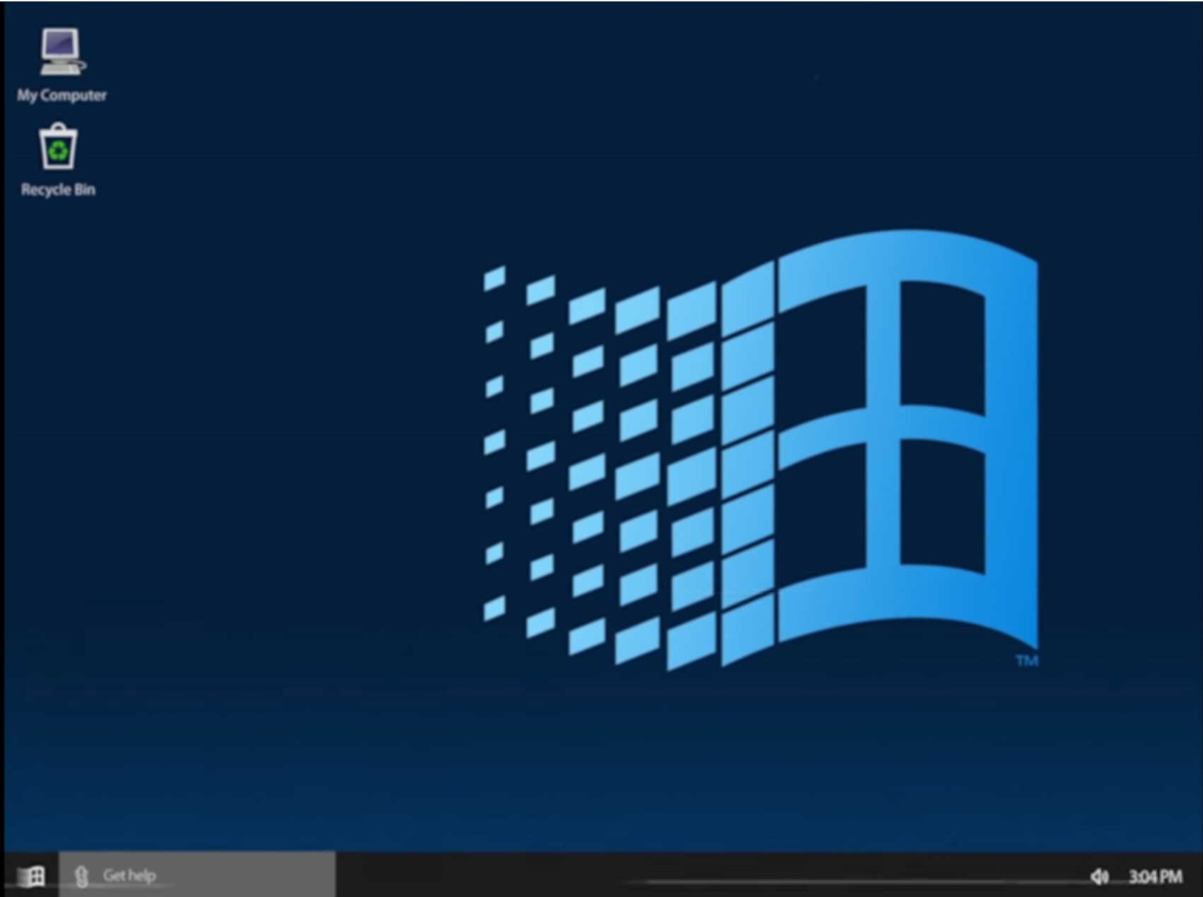 The Start Menu In Windows 10 1990s Edition Still Has Tiles But These Use Same Icons From 95 98 And Are For Programs Not S Features