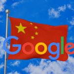 Google logo on Chinese flag