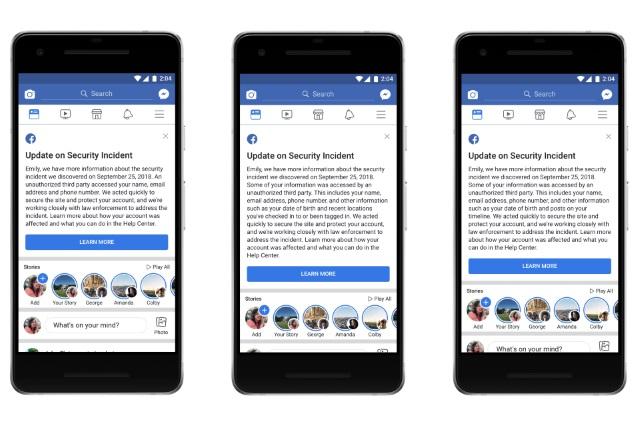 Facebook hack check