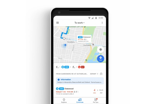 Google Maps adds new commute tab and music streaming integration