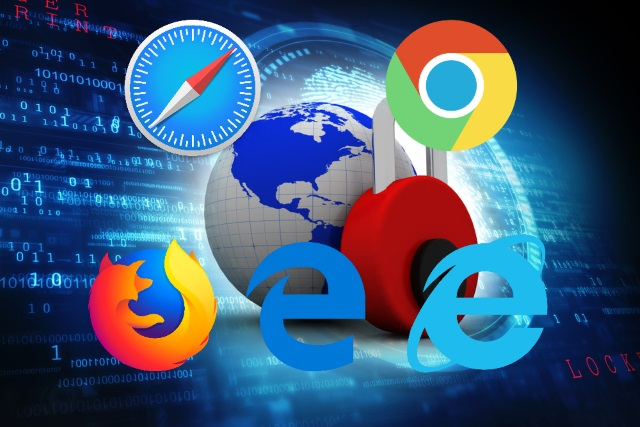 Internet security with browser logos