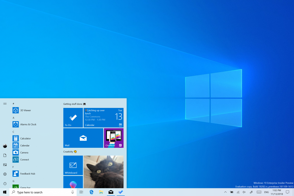 Microsoft Releases Windows 10 19h1 Build 18282 With New Light Theme