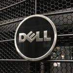 Black and chrome Dell logo
