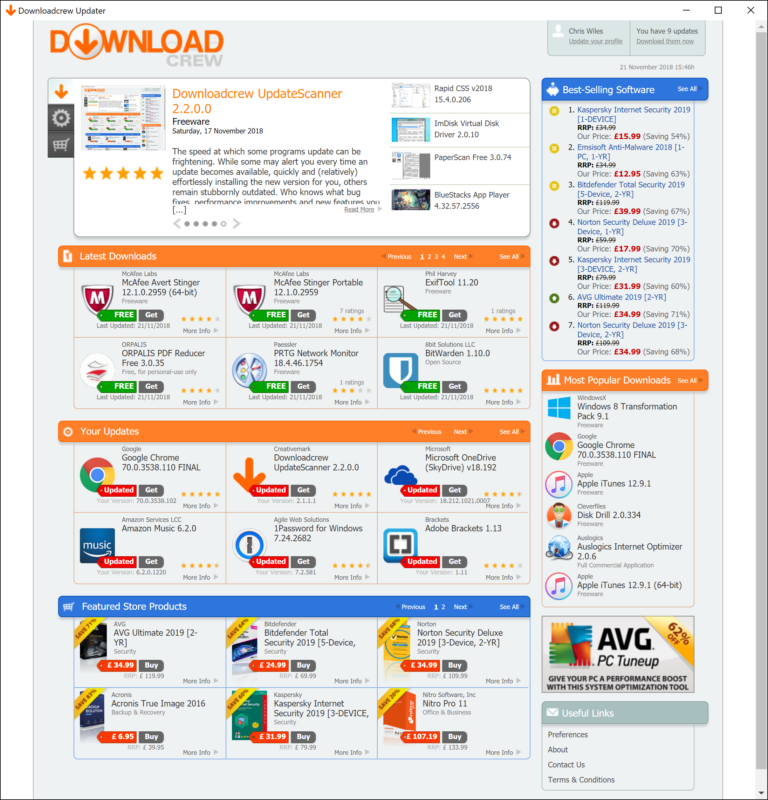 Keep your software up-to-date and one eye on the latest downloads with Update Scanner