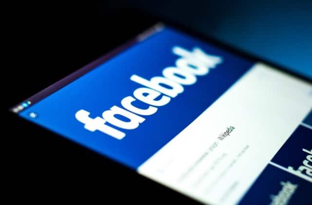 Angled Facebook logo