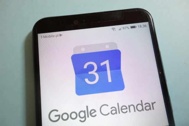 Google Calendar on mobile