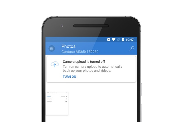 OneDrive Camera Upload