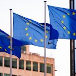 Three European flags
