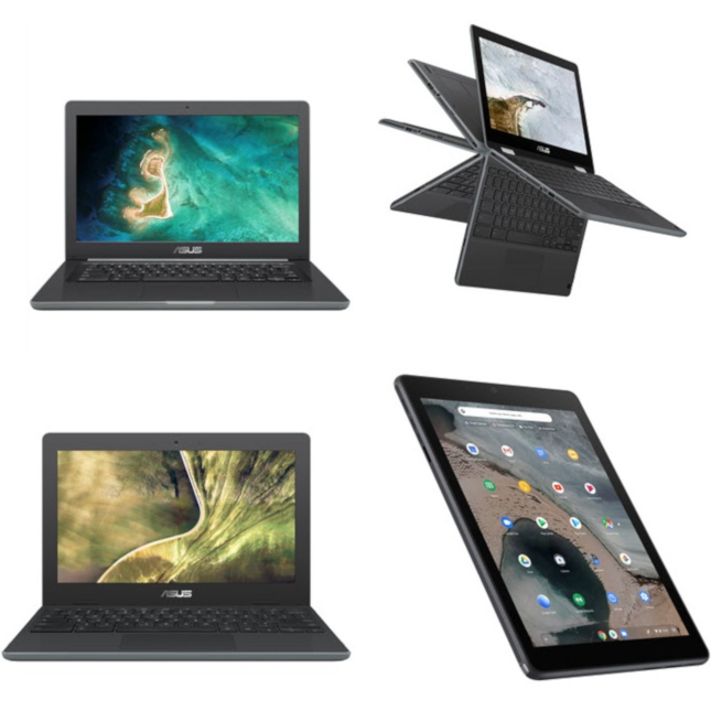 ASUS unveils new Chromebooks and a Chrome OS tablet for