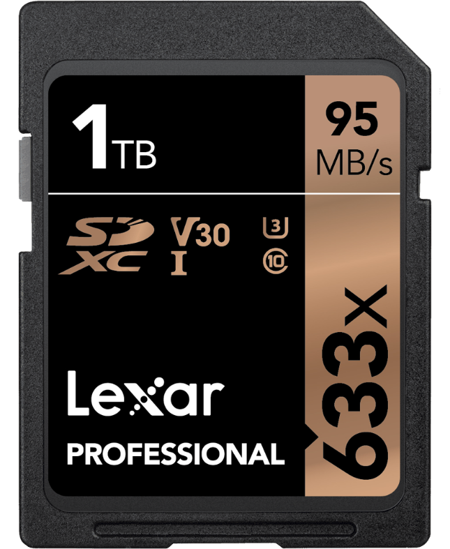 Lexar announces first commercially available 1 TB SD card