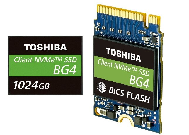 photo of Toshiba announces BG4 96-layer 3D flash NVMe SSD with up to 1TB capacity image