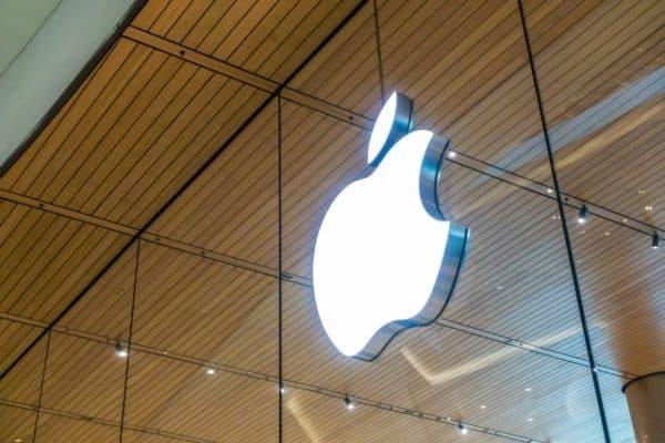 Angled Apple logo