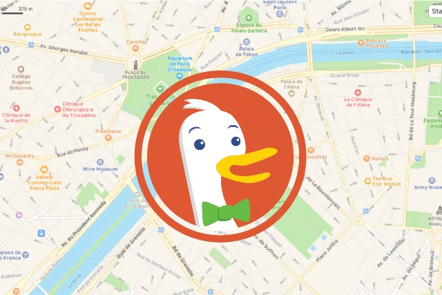 DuckDuckGo Apple Maps