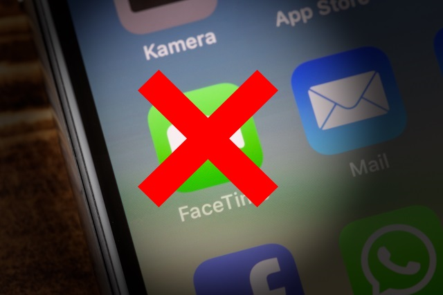 FaceTime icon crossed out