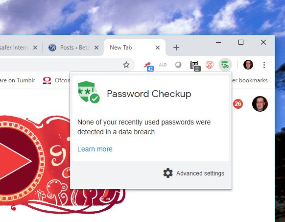 Google Releases Password Checkup Chrome Extension