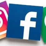 Facebook, Instagram and WhatsApp tiles