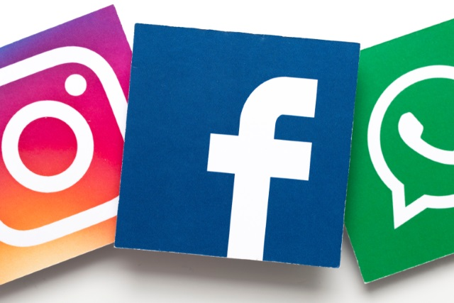 Facebook, Instagram and WhatsApp tiles