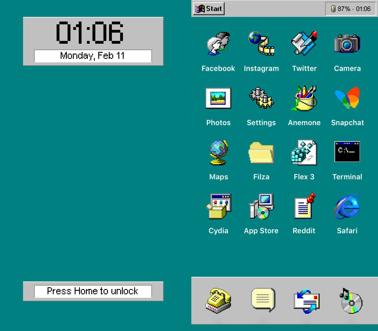 Give Your Apple Iphone A Windows 95 Makeover With Ios95