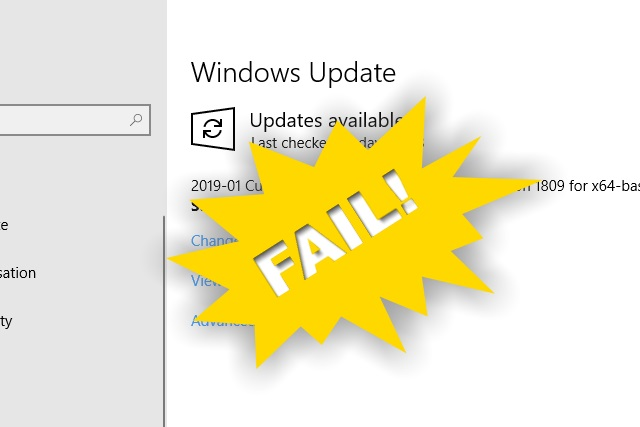 Windows Update fail