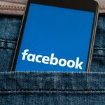 Facebook on mobile in pocket