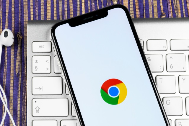 Google Chrome icon on mobile