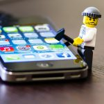 Lego man hacking iPhone