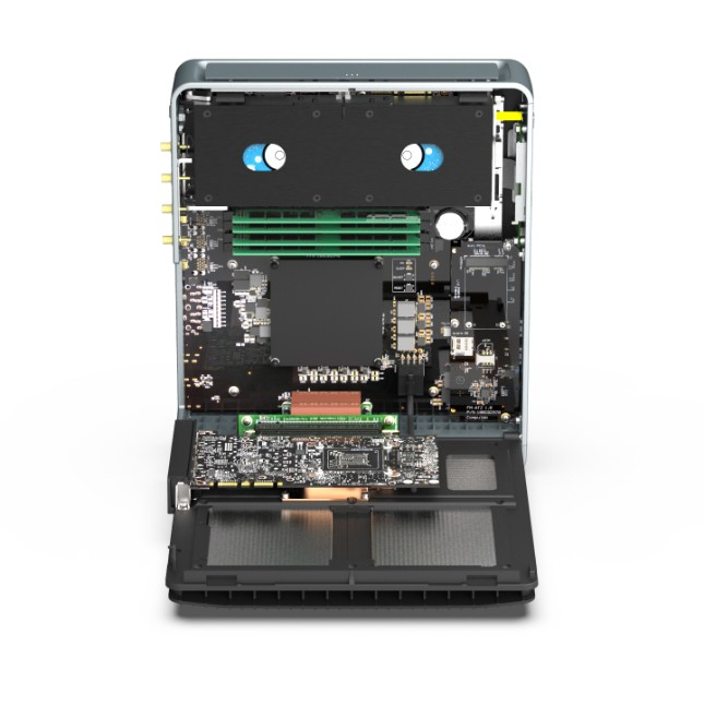Compulab Airtop3 Linux Mint mini computer has fanless Intel