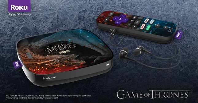 You can win a limited edition Game of Thrones Roku Ultra by watching