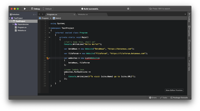 Visual Studio 2019 for Mac gets a new code editor