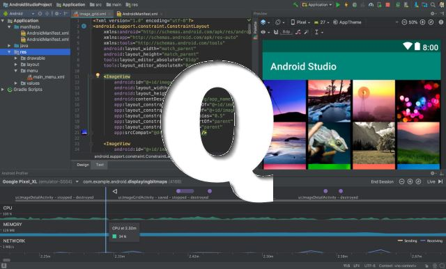 Download Android Studio 3 4 complete with Android Q emulator