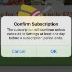 Apple subscription confirmation