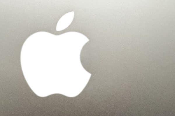 Closeup of Apple logo