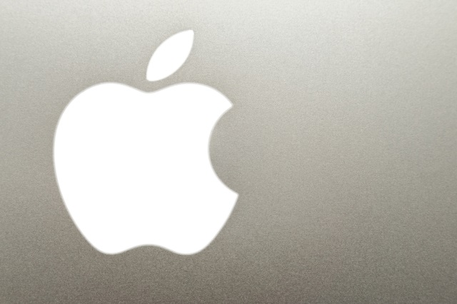 Closeup of Apple logo