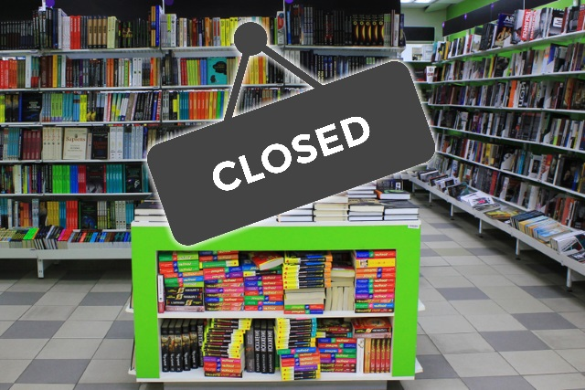 Closed bookshop