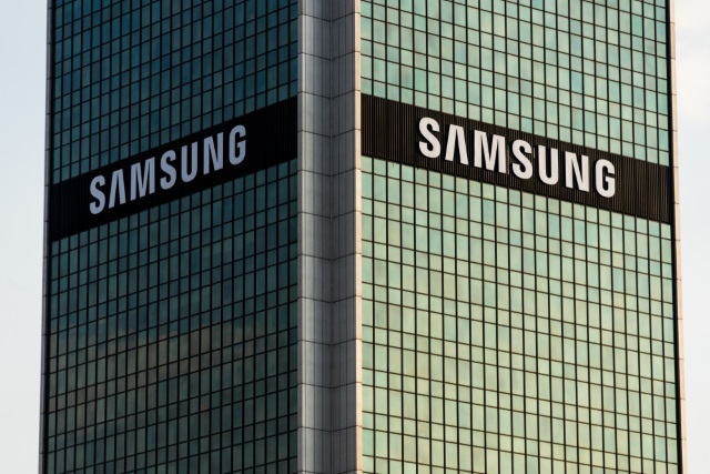 Two Samsung building logos