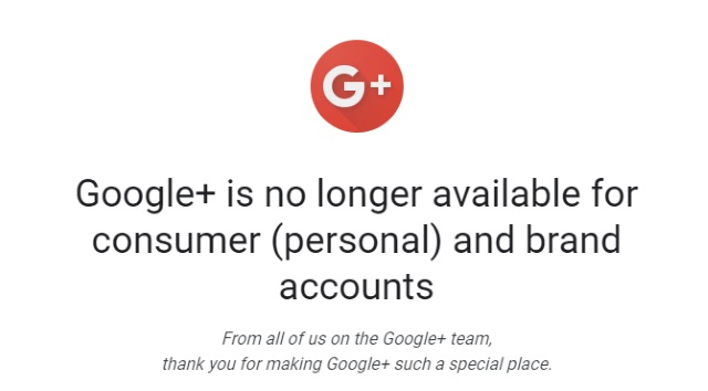 Google+ closure