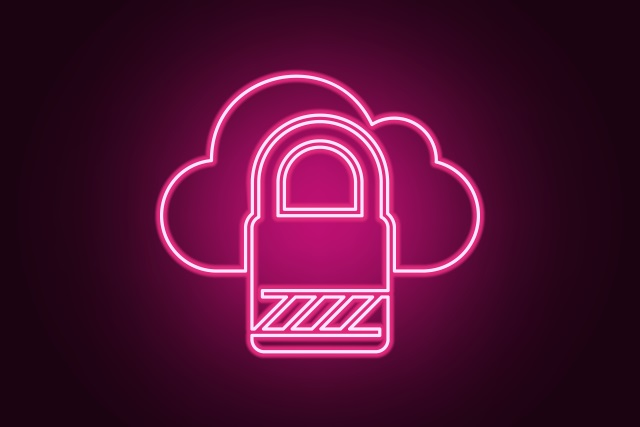 Pink cloud and padlock