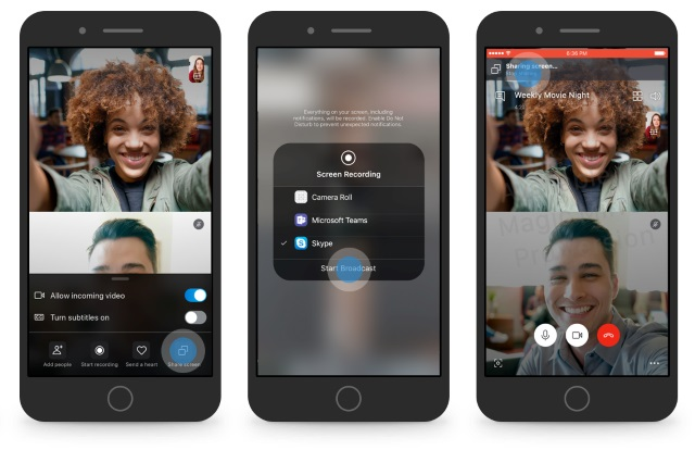 Skype now allows sharing your Android smartphone's screen on a video call