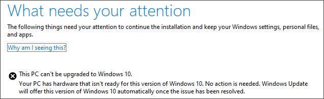 Windows 10 May 2019 Update installation error