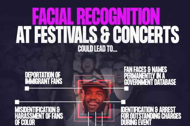 Fight For the Future -- Ban Facial Recognition at Live Shows