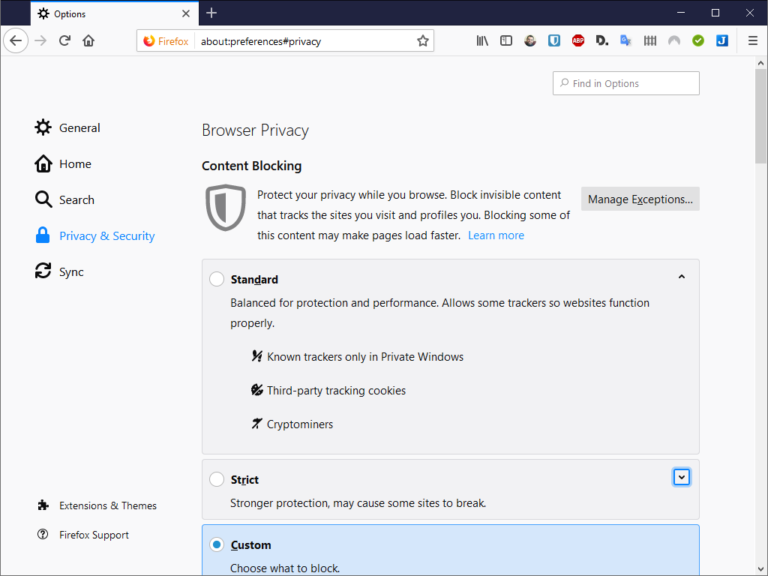 Mozilla Firefox 69: Enhanced Tracking Protection on by default - Software
