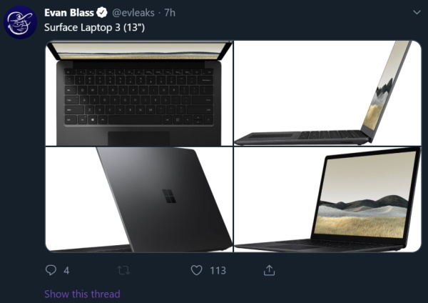 13-inch Surface Laptop 3