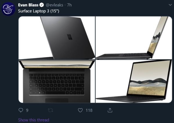 15-inch Surface Laptop 3
