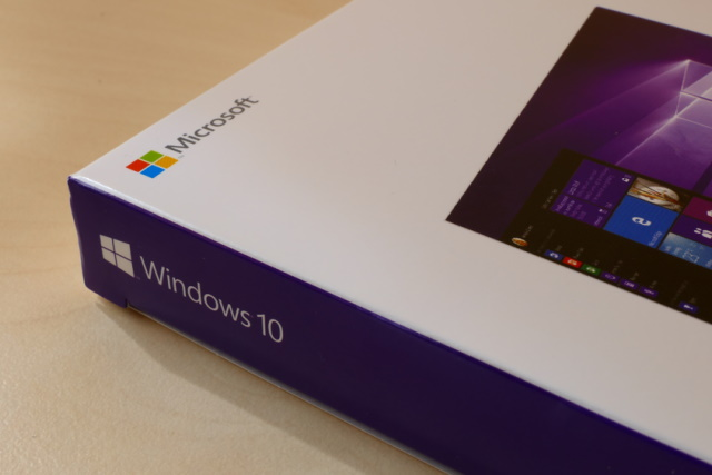 Purple Windows 10 box